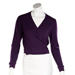 Purple Vintage Chanel Cashmere Wrap Sweater